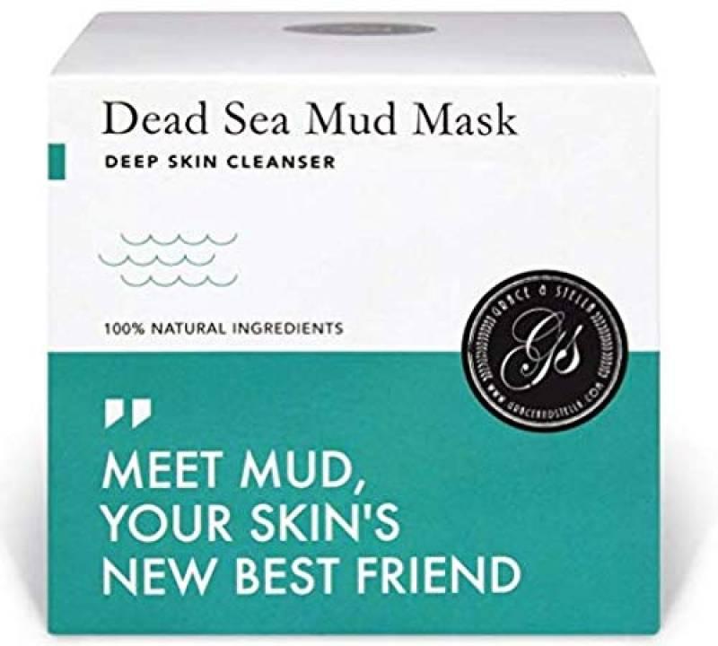 Maschera Viso Fango Mar Morto 200g - spatola gratuita - pulizia profonda dei pori - Purificare le tossine e le impurità, rimuovere l'olio eccessivo, ridurre al minimo i pori, imperfezioni e rughe