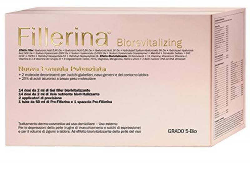 LABO FILLERINA BIOREVITALIZING NUOVA FORMULA POTENZIATA Pre-Fillerina+Filler Gel+Velo Nutriente Grado BIO 5