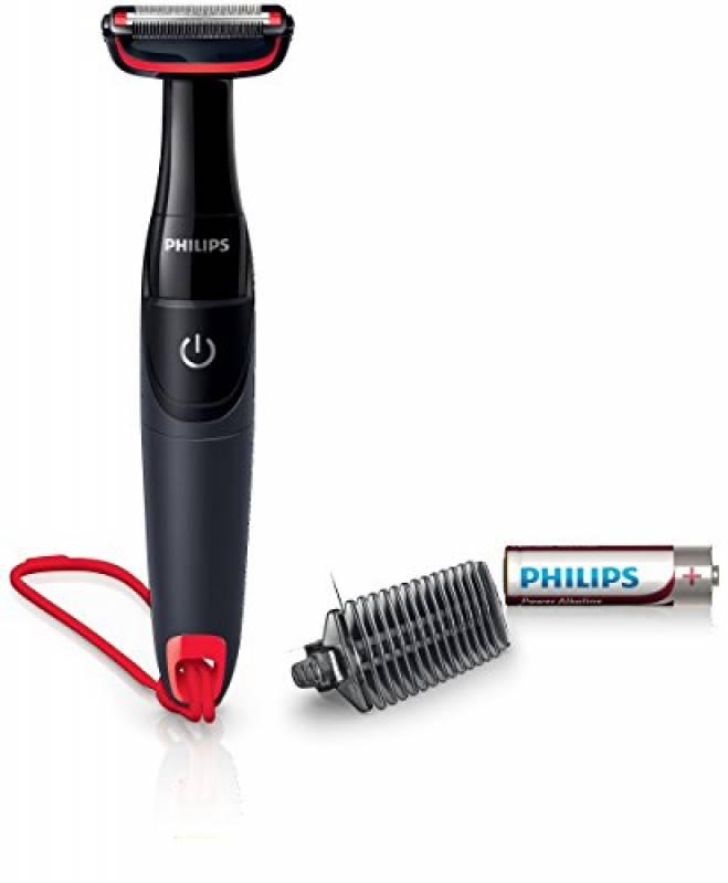 Philips BG105/10 Bodygroom Serie 1000 Depilatore Corpo, Sistema di Protezione della Pelle, per Zone Sensibili