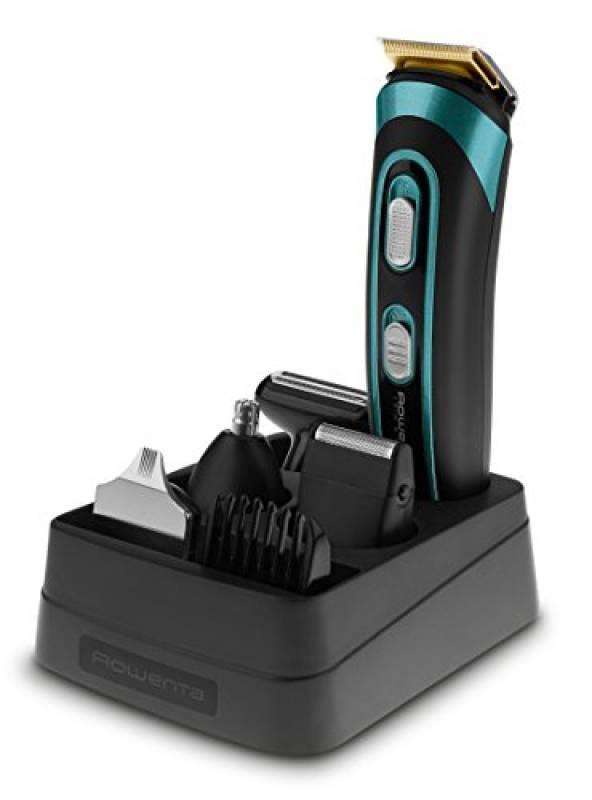 Rowenta TN9130 Trim&Style Grooming Kit 7 in 1 Uomo, Rasoio & Rifinitore Multifunzione per Viso, Barba e Corpo, Tecnologia Wet&Dry