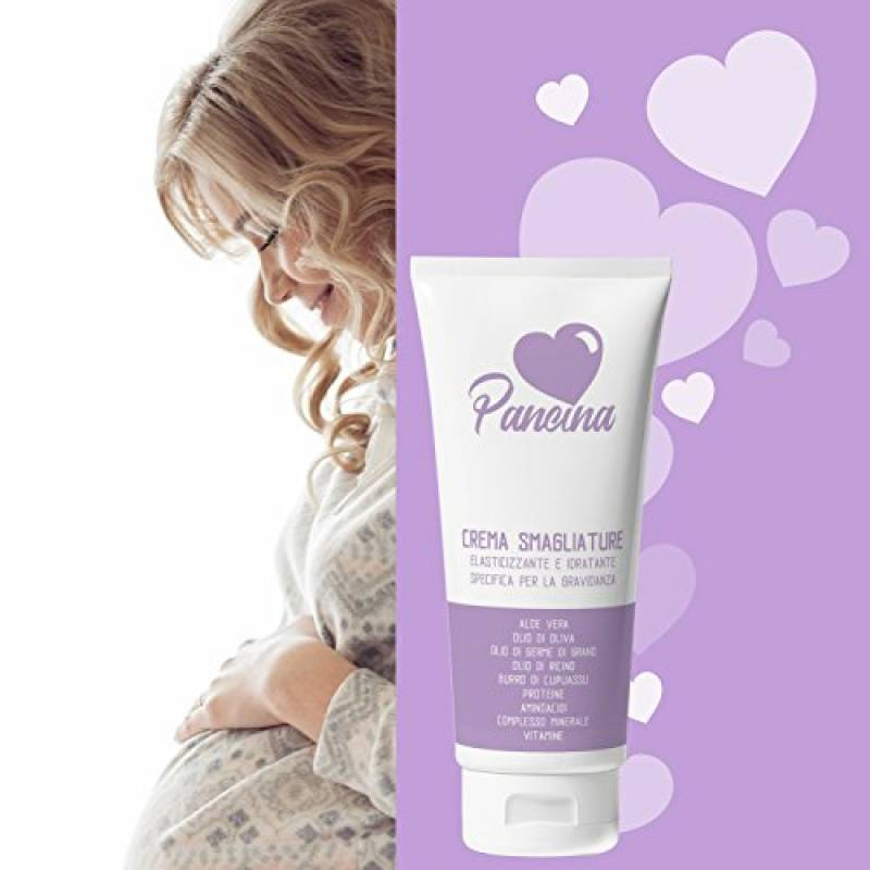 Pancina   crema antismagliature idratante ed elasticizzante per la gravidanza   crema anti smagliature ipoallergenica clinicamente testata   200 ml