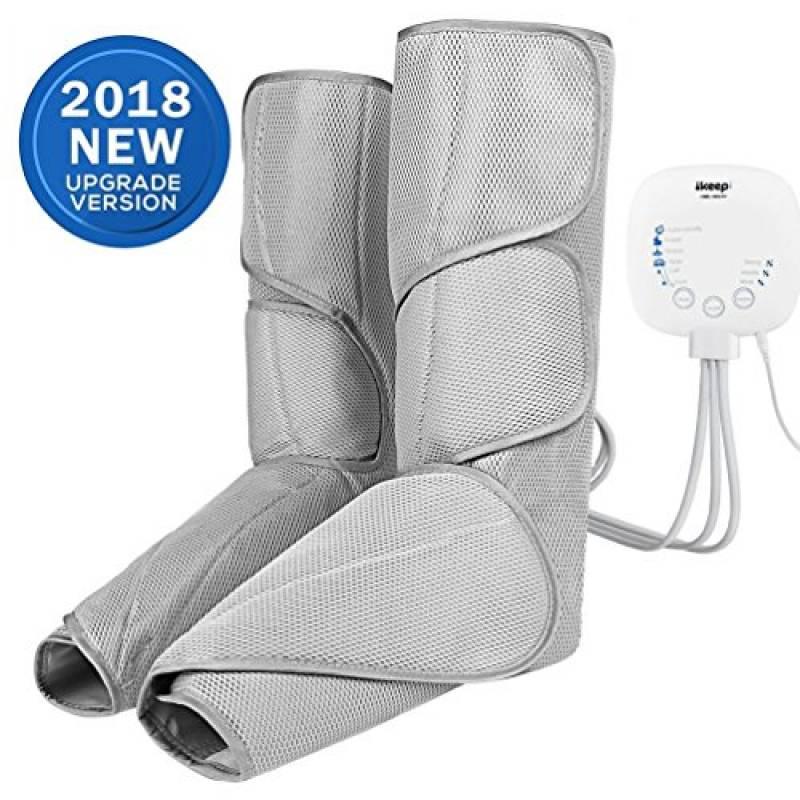 Ikeepi Massaggiatore per Gambe Intensità del Massaggio Pressoterapia per Polpacci e Piedi